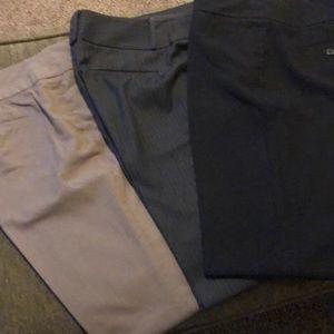 3 Pairs of Ann Taylor Dress Pants. 6 Curvy